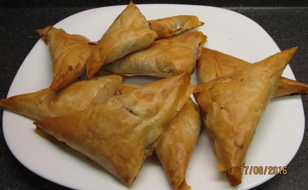 Greek Meat-filled Triangles Recipe