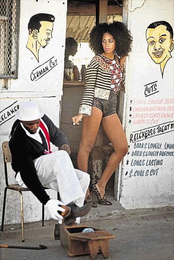 Solange Knowles in the video for 'Losing You', which was shot in South Africa. The original idea had been to pay tribute to the fashions in the Republic of the Congo Picture: DANIELE TAMAGNi
