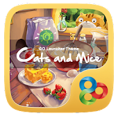 Cats & Mice GO Launcher Theme