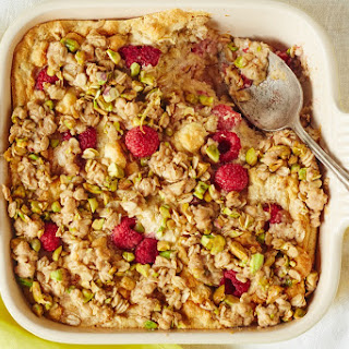 Raspberry Cookie Butter Baked Oatmeal.