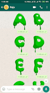 Letter WAStickerApp - Letter Stickers for Whatsapp Screenshot