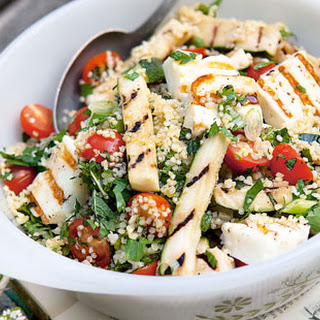 Quinoa Salad With Halloumi.