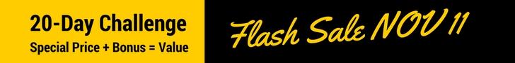 20-Day Challenge Flash Sale