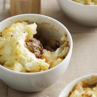 Shepherd's Pie with Ground Beef and Feta Cheese.