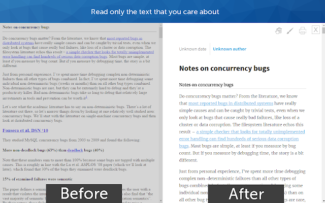 Screenshot of Just Read for Chrome