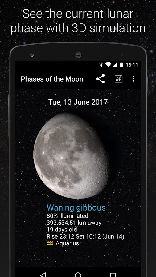 Phases of the Moon Free: screenshot