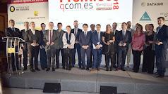 Foto de familia de los premiados en las diferentes categorías