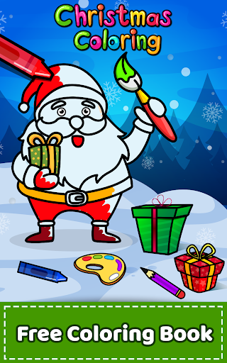 Christmas Coloring Book & Games for kids & family ss1