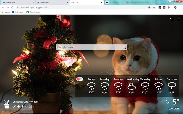 Christmas Cats New Tab, Wallpapers HD