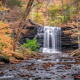 Harrison Wright Falls by David Long - Landscapes Travel