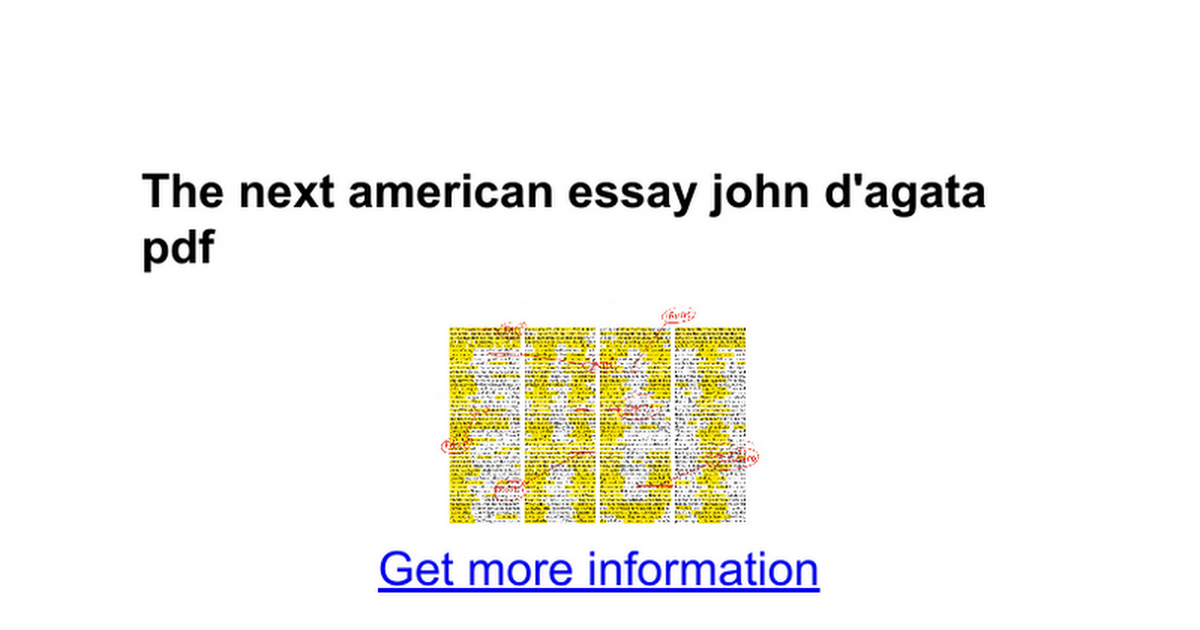 D agata next american essay