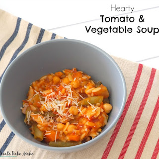 Hearty Tomato and Vegetable Soup.