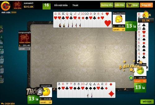 Đánh bài online - Chơi game đánh bài trực tuyến - Sảnh Rồng