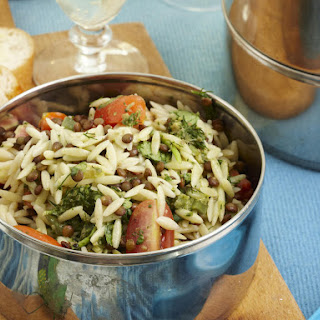 Orzo and Lentil Salad with Salsa Verde