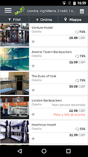 hostelbookers - Ostelli- miniatura screenshot