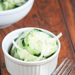 Healthy Cucumber Salad.