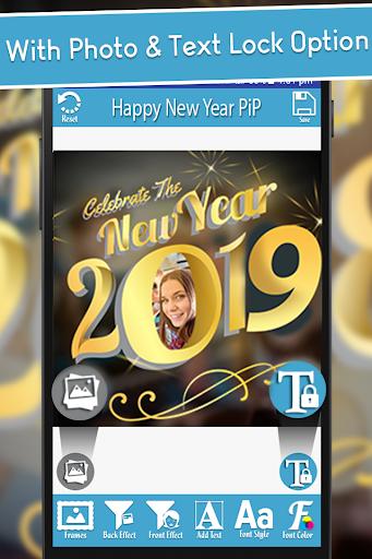 Happy New Year 2019 - PIPPhotoFrames 1.0 screenshots 6