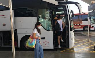 Último trasbordo en bus a la estación de Huércal