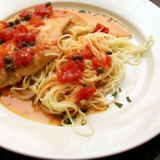 Easy Boneless Chicken Breasts with Tomatoes and Capers.