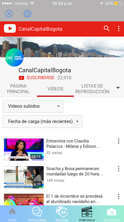 En Vivo Canal Capital- screenshot