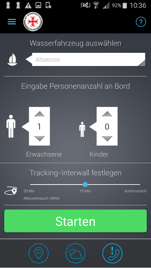 SafeTrx der Seenotretter – Screenshot