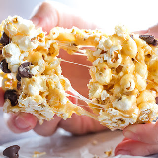Peanut Butter & Marshmallow Popcorn Bars.