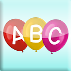 Pop Alphabet Balloons for kids,abcde icon