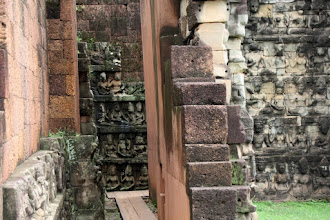 Photo: Year 2 Day 44 -  Inner and Outer Wall of Terrace of the Leper King