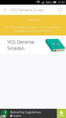 YGS Deneme Sınavları - screenshot