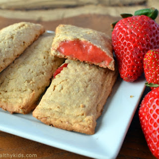 Homemade Strawberry Cereal Bars.