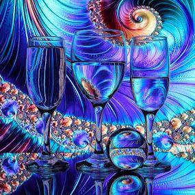 Fractal Swirl by Sam Sampson - Artistic Objects Glass ( reflection, pattern, glasses, swirl, fractal )