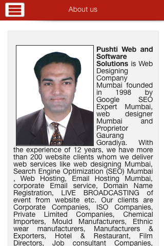 WebDesignMumbai Pushtiwebindia- screenshot