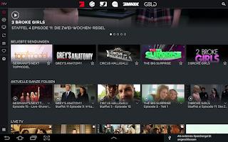 Screenshot of 7TV | Mediathek, TV Livestream