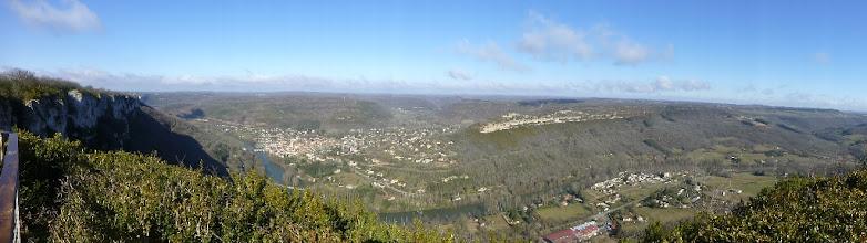 Photo: Vue panoramique du roc d'Anglars 340 m