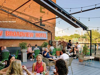 Broadview hotel rooftop patio