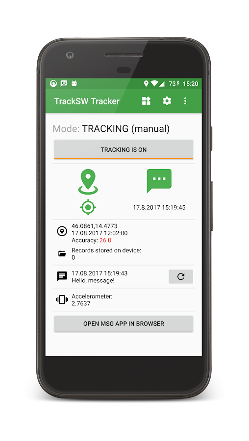 TrackSW GPS Tracker- screenshot