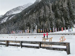 Photo: im Biathlonzentrum Antholz