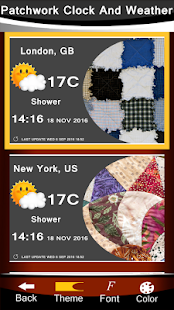 Patchwork Clock And Weather - náhled