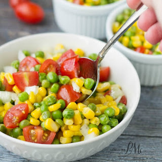 Sweet and Sour Marinated English Pea and Corn Salad Recipe