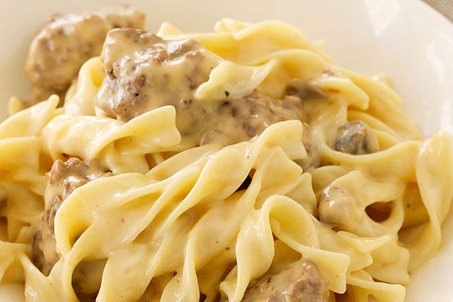 VELVEETA® Cheesy Beef Stroganoff Casserole Recipe | Yummly
