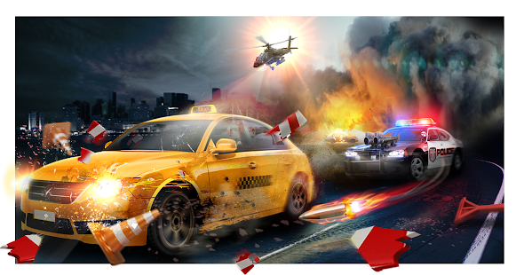 Police Chase -Death Race Speed Car Shooting Racing Screenshot