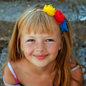 Ana by Ivana Miletic - Babies & Children Child Portraits ( girl, blonde hair, blue eyes, ivana miletic, smile, portrait )