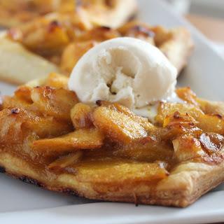Mango & Nectarine Tarts with Almond-Rum Sauce