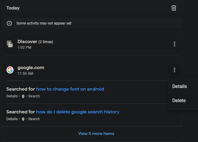 احذف سجل بحث Google Chrome