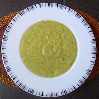 Skinny Creamy Broccoli and Cauliflower Soup.