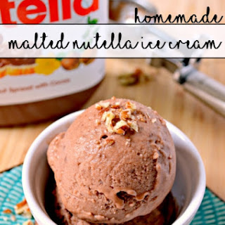 Homemade Malted Nutella Ice Cream
