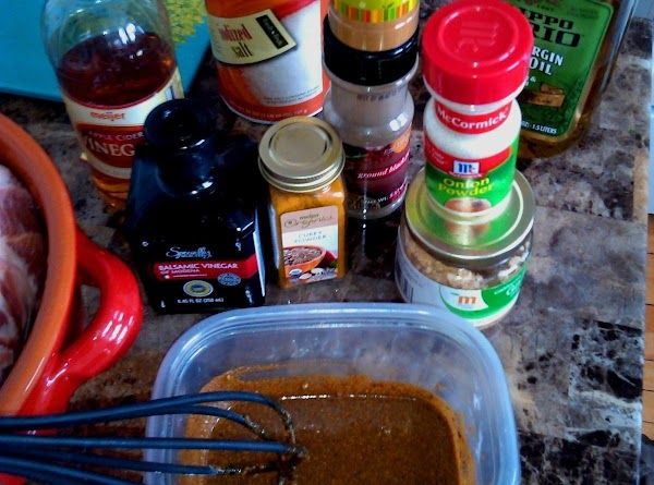 Add rest of marinade ingredients to bowl, and whisk together.