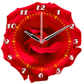 Rose Flower Clock