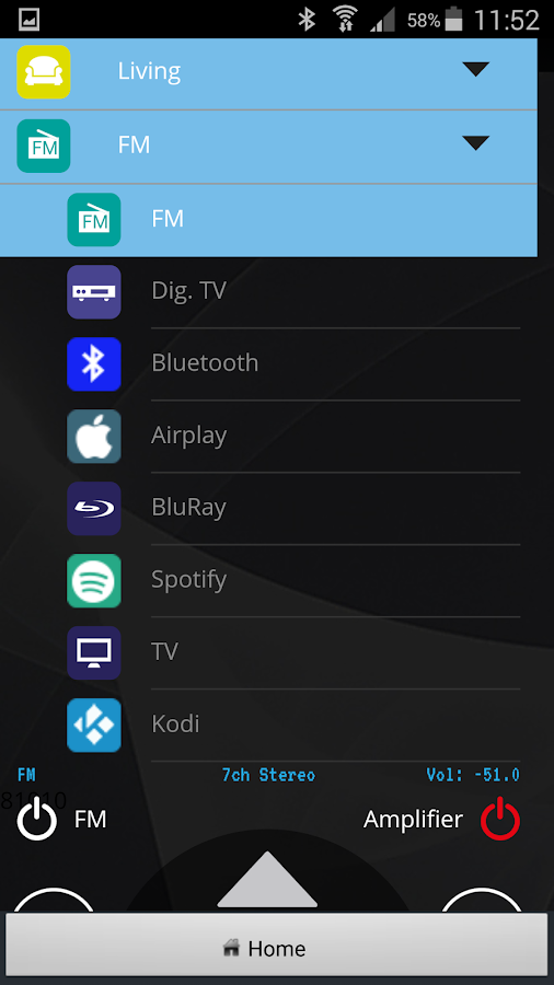 Universal Remote App- screenshot