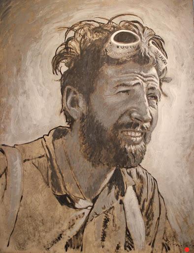 Herman Buhl. acrylic on paper, 50x70cm